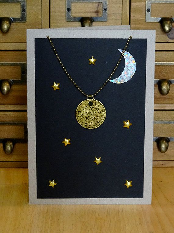 Love beyond the moon pendant necklace card blue moon crescent love beyond the moon pendant necklace card blue moon crescent moon planet aloadofball Images