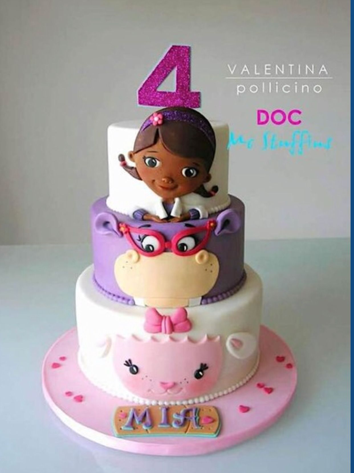 Super Pin By Beverly Eady Harper On Cakes With Images Doc Mcstuffins Personalised Birthday Cards Beptaeletsinfo