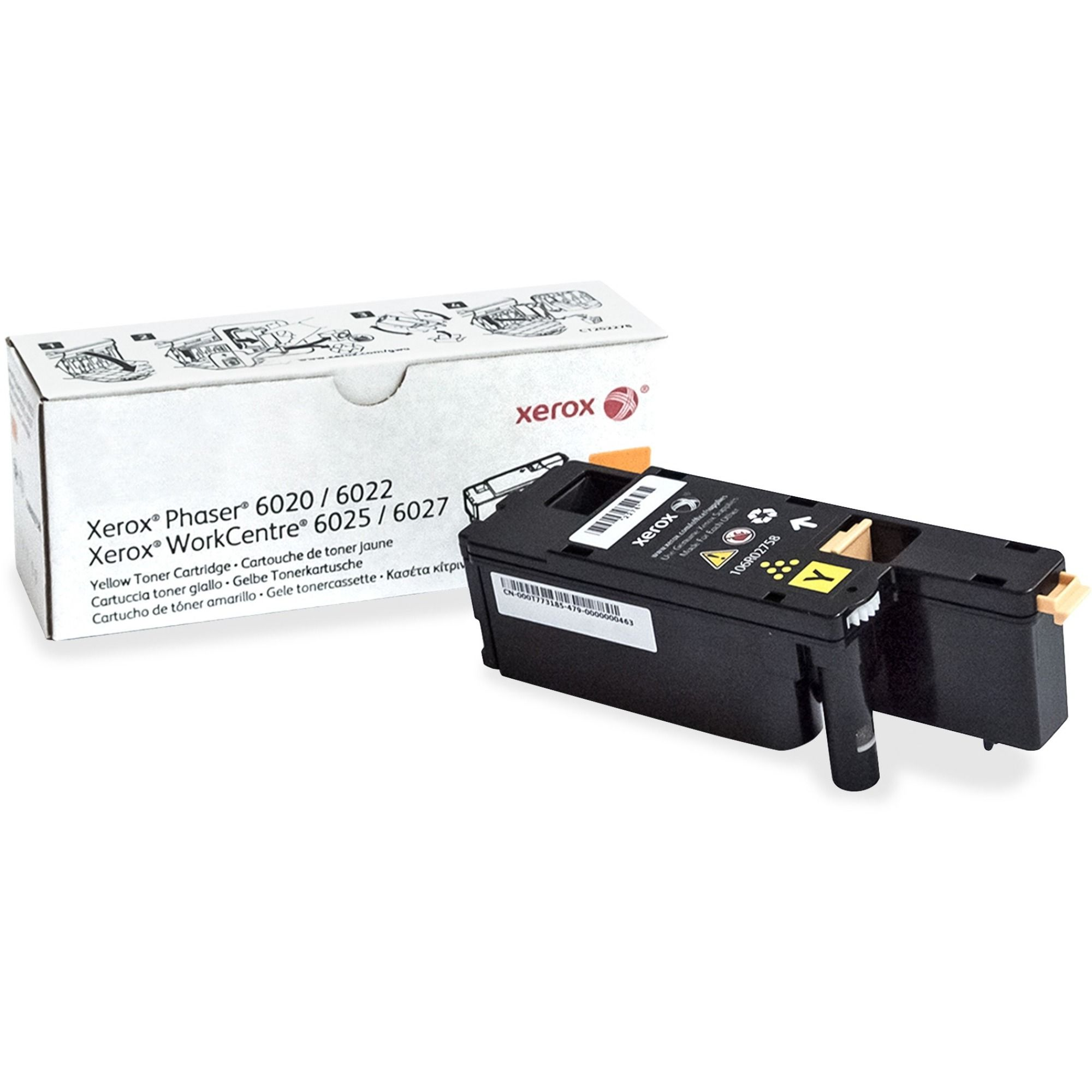 Xerox Original Toner Cartridge Laser Standard Yield 1000 Pages Yellow 1 Each Toner Cartridge Laser Toner Cartridge Xerox Toner