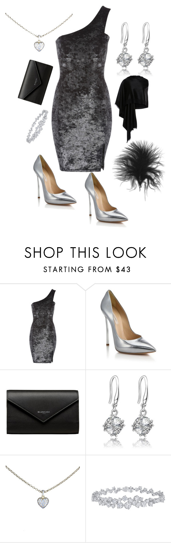 """Untitled #603"" by stylemirror ❤ liked on Polyvore featuring Casadei, Balenciaga, Cartier, Harry Winston and Bajra"