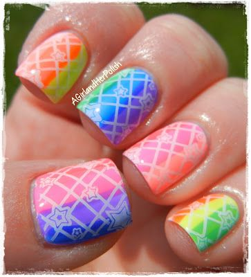 A Girl and Her Polish: The Nail Challenge Collaborative Presents: Neon - Rainbow Neon