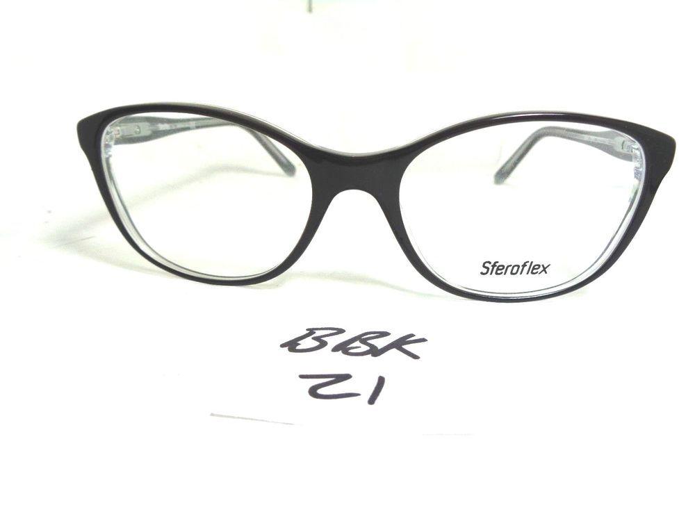 New SFEROFLEX LUXOTTICA 1548 C562 Eyeglass Frame (BBK-21)