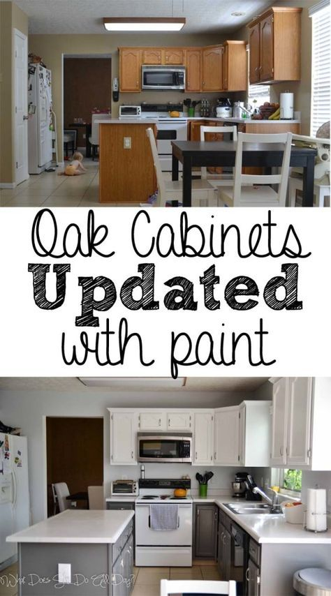 Painted Kitchen Cabinets Before and After #DIY nice to see ...