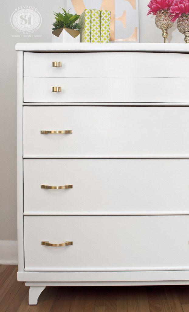 Attirant Sherwin Williams Painted Dresser   Extra White SW 7006