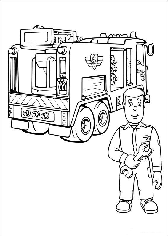 Fireman Sam Coloring Pages 19 Coloring Pages For Kids Pinterest - Fireman-sam-coloring-page