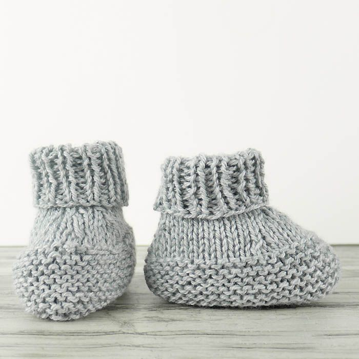 Flat Knit Baby Booties Free Knitting Pattern (Gina Michele ...