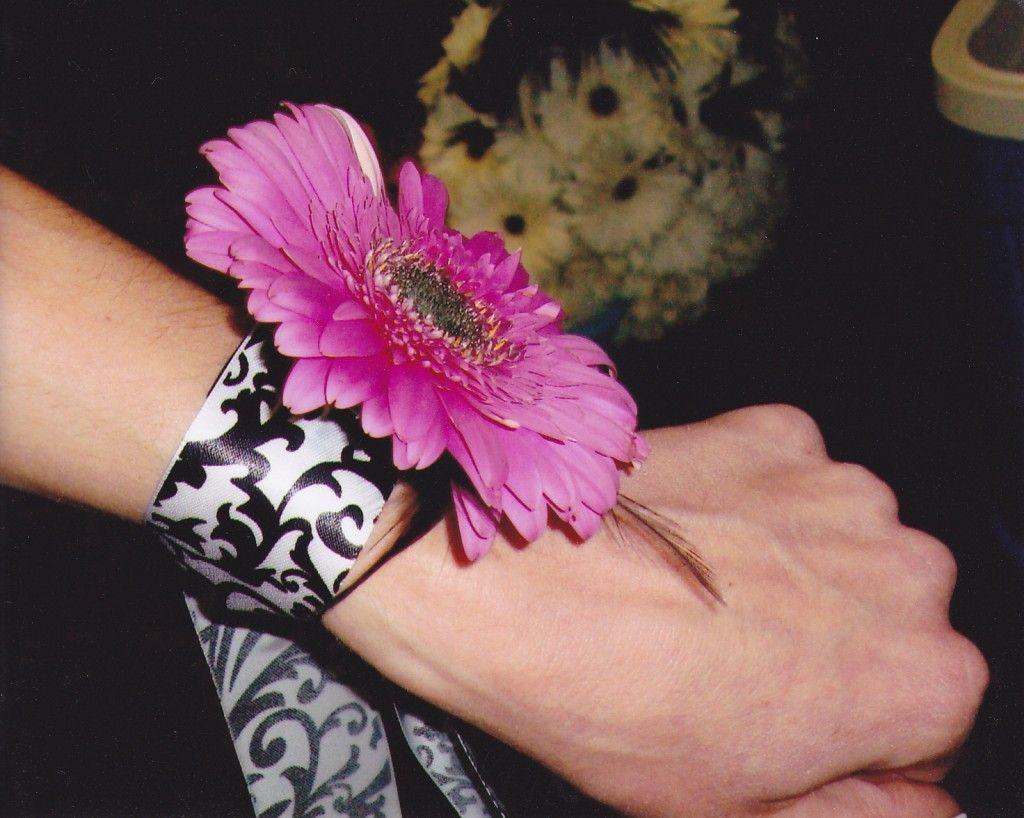 Unusual Wrists Corsage For Prom Single Giant Gerbera Wrist