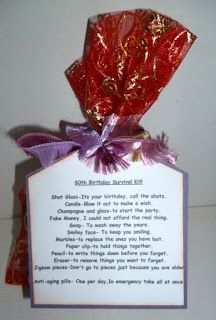 A Friend Of Mine Is Turning 60 Next Month So I Have Made Her Small Survival Kit To Help With Getting OlderLoz