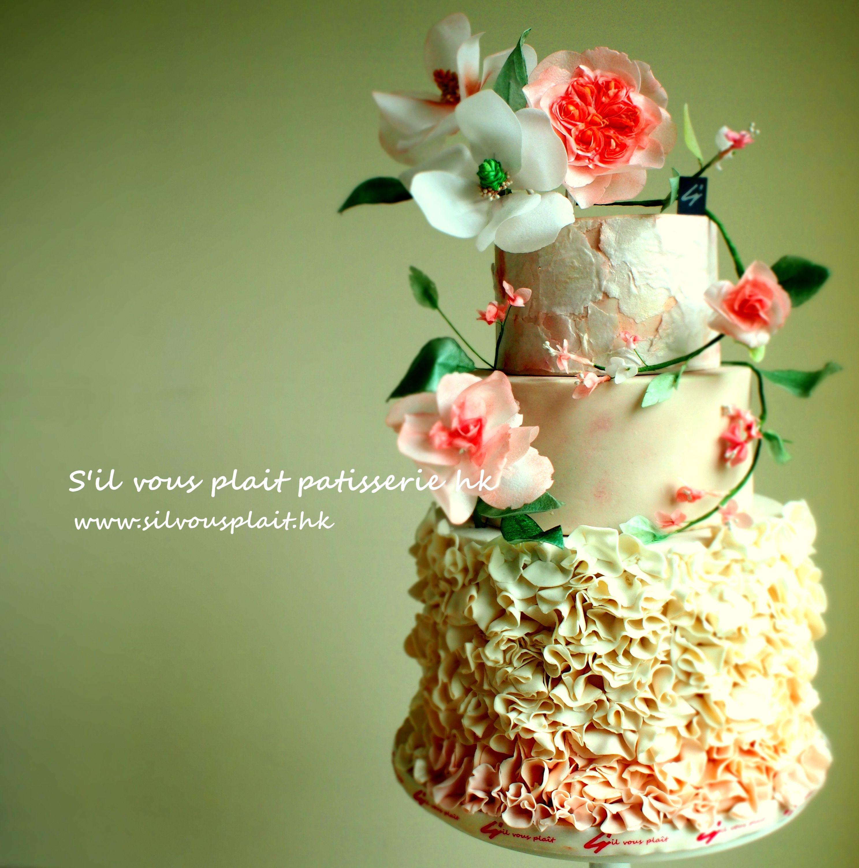 Weddingcake Birthdaycake Garden Flower Alloccasioncake Elegance Cake Sophisticated Anniversarycake Wedding Wedding Cakes Anniversary Cake Cake Design