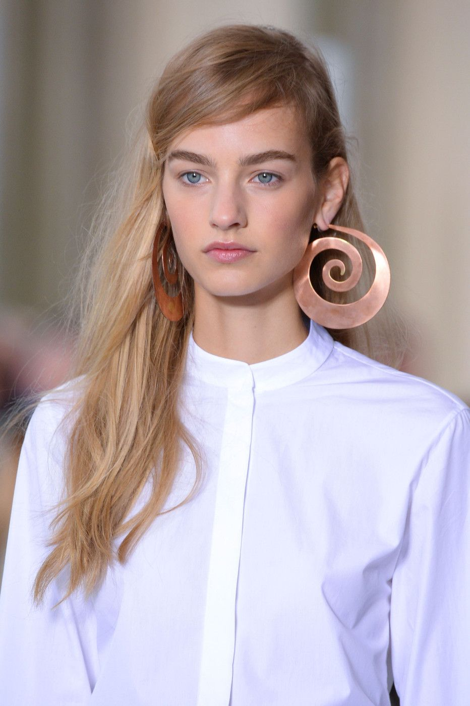 Rose Gold Swirls at Tory Burch - Best Jewelry from New York Fashion Week Spring 2015 - StyleBistro