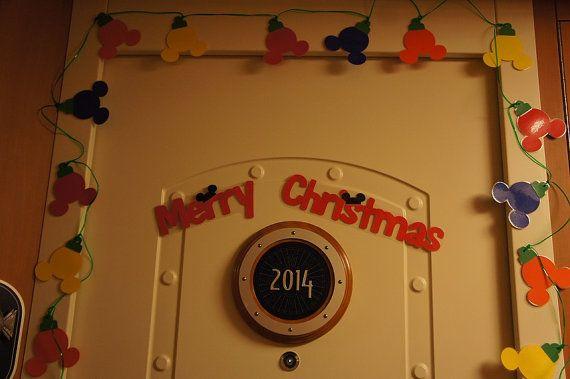Festive Disney Cruise Mickey String Light Magnet Set Make Your