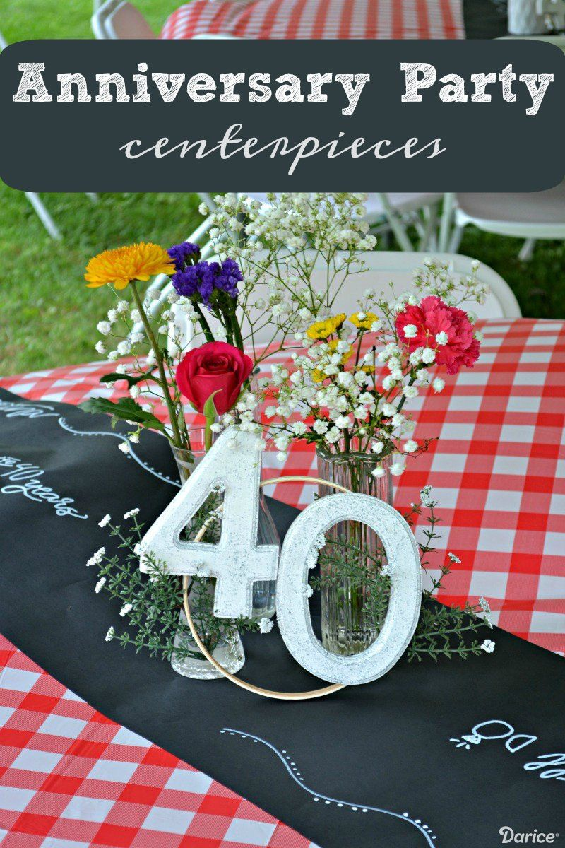 Homemade Table Centerpieces For An Anniversary Party Darice