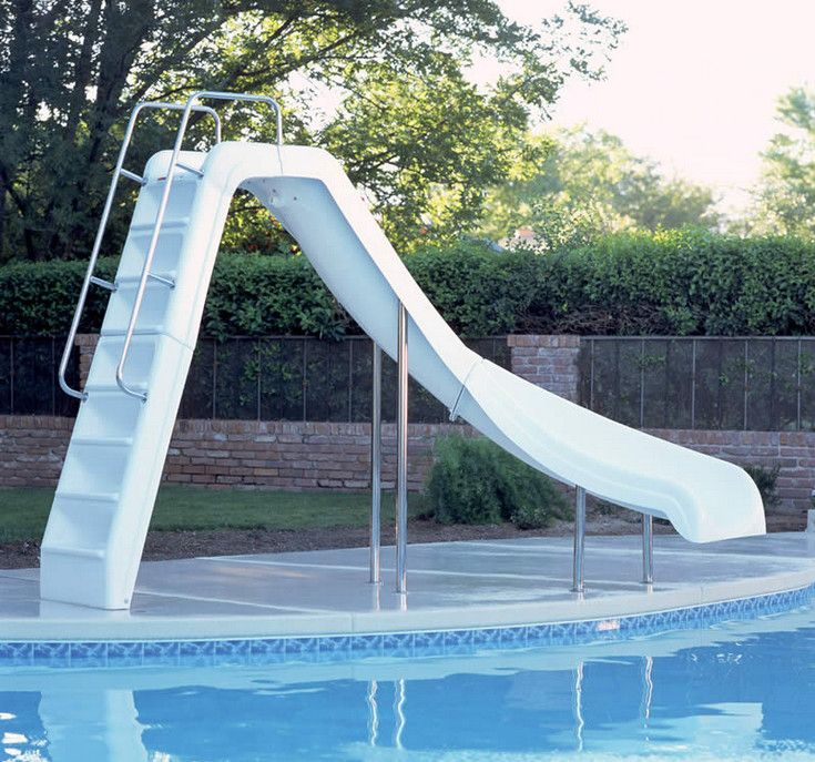 Above Ground Swimming Pool Slides Pools Backyards Pinterest Swimming Pool Slides Above
