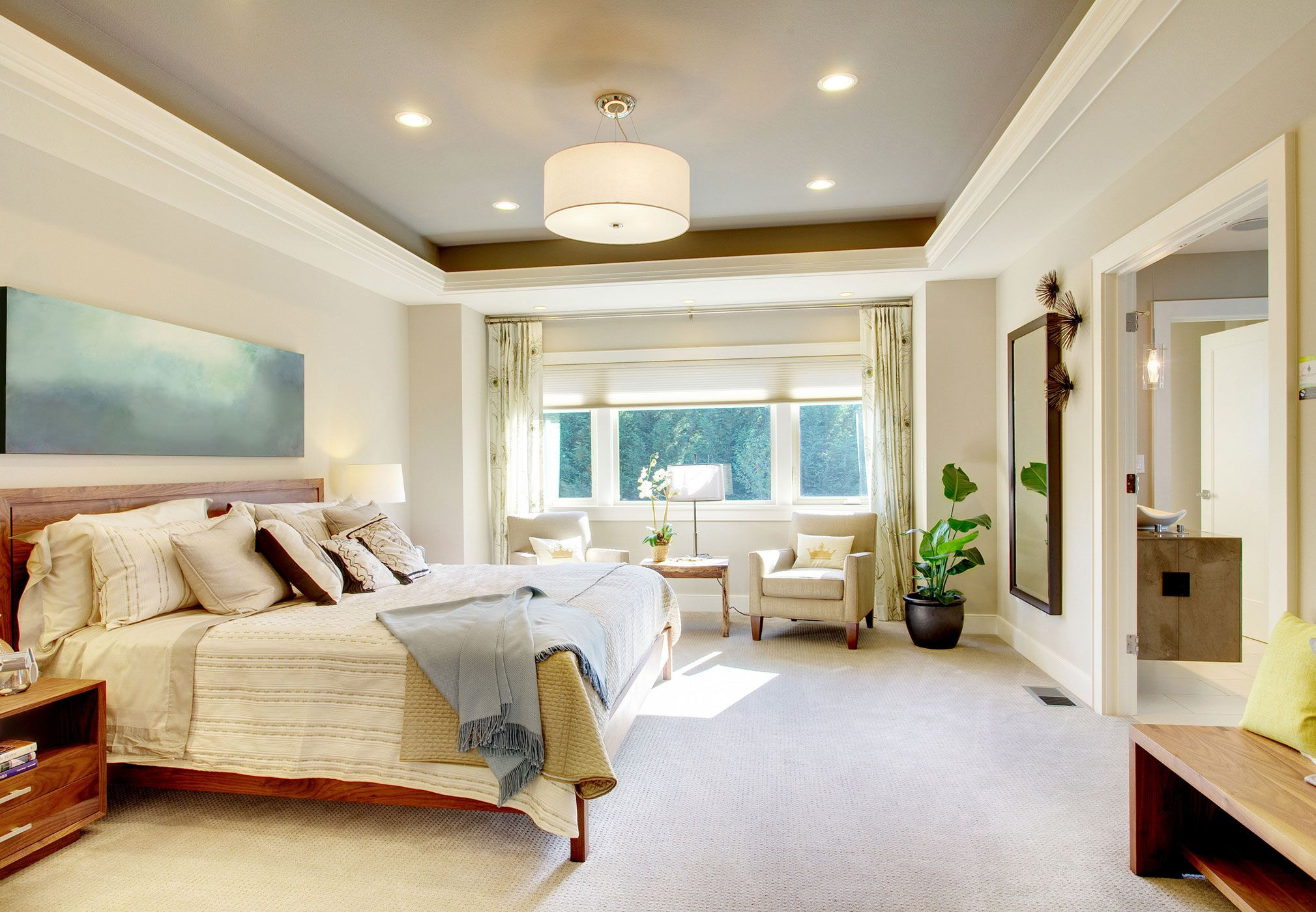 Types Of Lighting For Your Home Master Bedroom Lighting Luxury Bedroom Master Master Bedroom Design