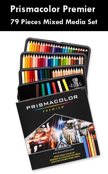 Prismacolor Premier 79 Pieces Mixed Media Set Drawing Blending
