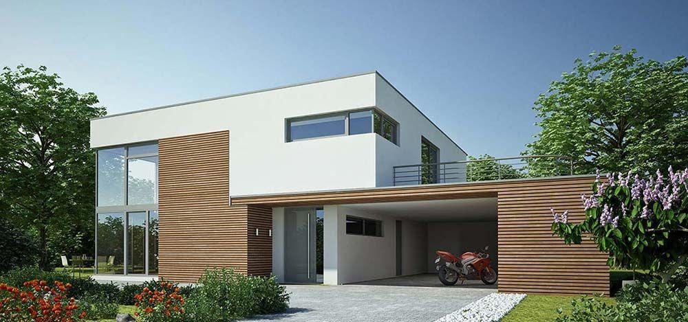 ein bauhaus in elegantem stil façade bauhaus house