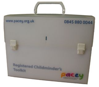 A lockable tool case with dividers to keep your childminding paperwork in one place. For PACEY members only.