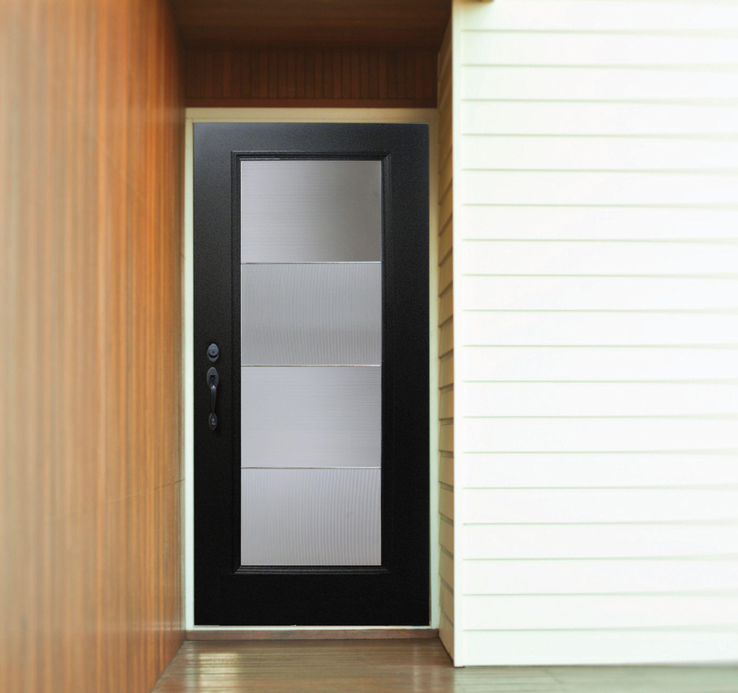Plastpro Modern Door DRG00 ABRFL7 With Aberdeen Glass.