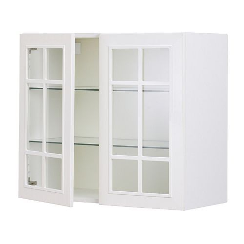 Akurum Wall Cabinet With 2 Gl Doors Ikea Adjule Shelf Sy Frame Construction 3