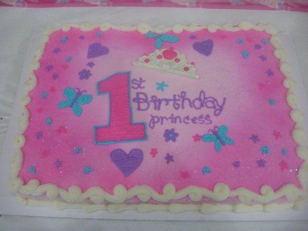 1st Birthday Sheet Cake Cake Decorating Community Cakes We Bake