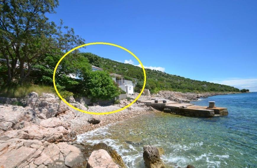 Lage des Hauses im Süden der Kvarner Bucht in Kroatien.