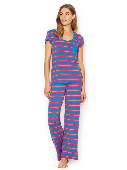924e5ed25b Indo Stripe Jersey Pajama Set Comfy Pajamas