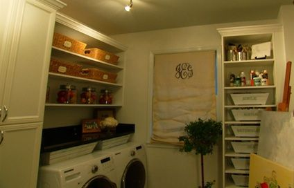 Organized laundry room from the amandas