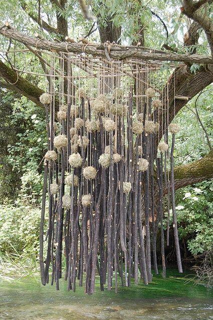 suspensions branches fleurs