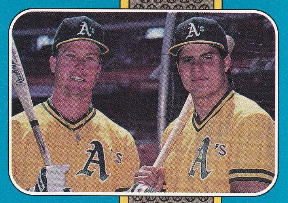 1987 Donruss Highlights Mark Mcgwire Jose Canseco Baseball