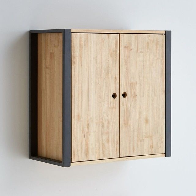 meuble salle de bain haut bois