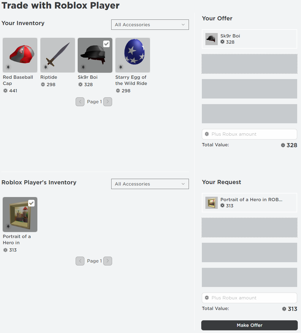 Trading System Roblox Support In 2020 Roblox Trading System