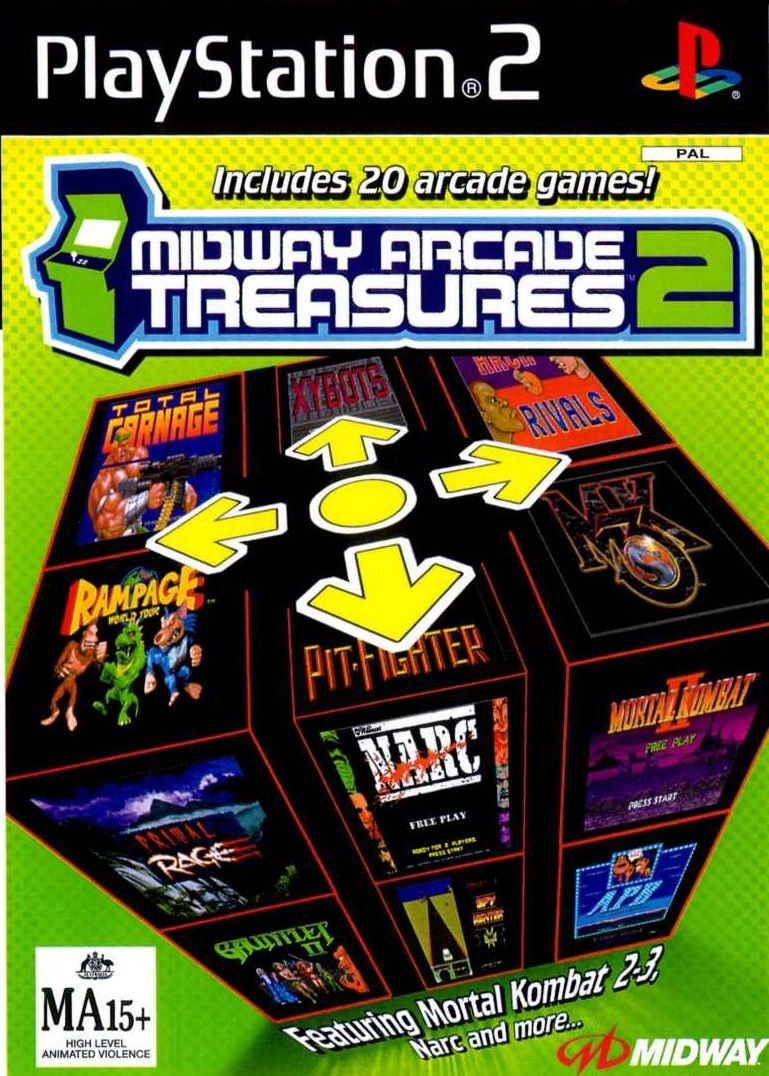 Midway Arcade Treasures 2 PS2 Playstation 1 and 2 games
