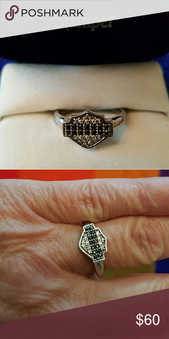 Harley Davidson Diamond Ring : harley, davidson, diamond, HARLEY, DAVIDSON, STERLING, Harley, Davidson, Jewelry,, Sterling, Ring,