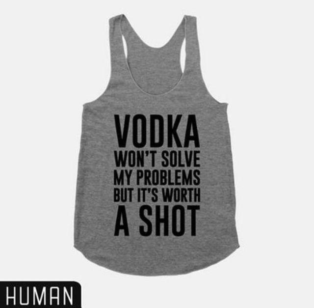 Vodka shots shirt