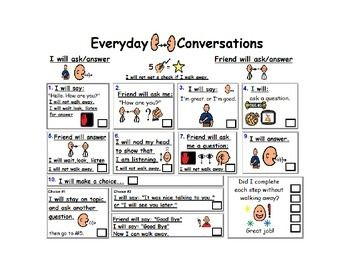 Conversation Checklist Visual Aid for Every Day Version 2