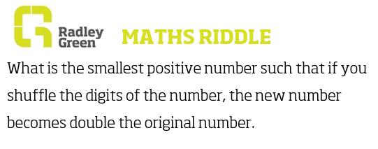 Maths riddle!