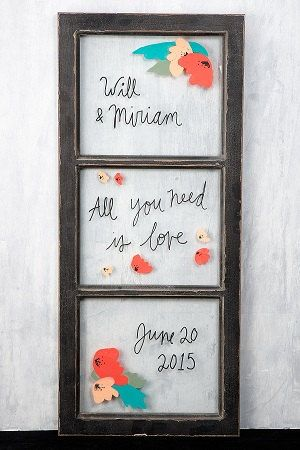 THREE PANE WINDOW Frame Wedding Singage by KitAndCaboodleSupply