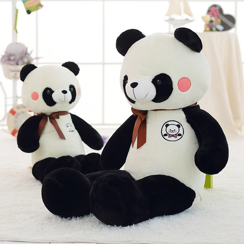 2020 45CM Giant Panda Teddy Bear Plush Plush Toy Doll Stuffed Animal Pillow Gift
