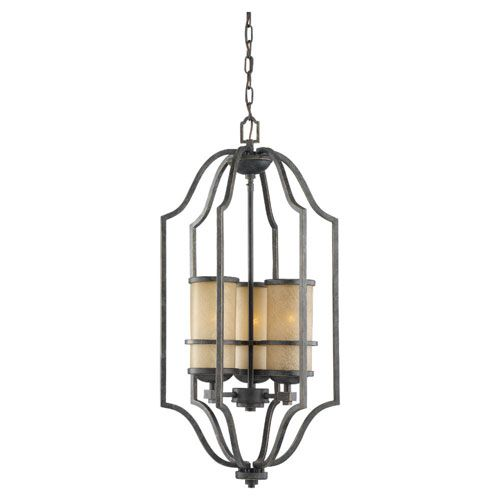 Roslyn flemish bronze energy star led 31 75 inch three light hall foyer pendant