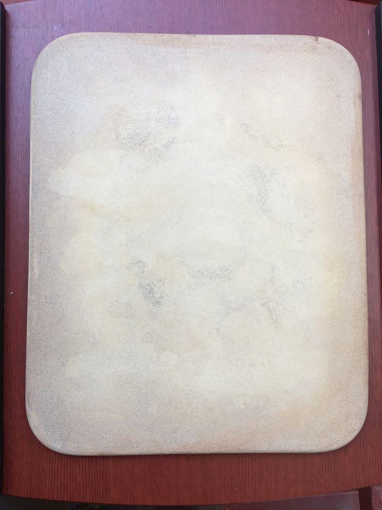 "Pampered Chef Stoneware 12"" x 15"" Rectangle Baking Stone Sheet Pizza Cookie Pan | eBay"