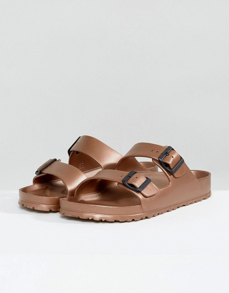 0f667b85d24 Birkenstock Arizona Eva Metallic Sandals in Copper - Copper