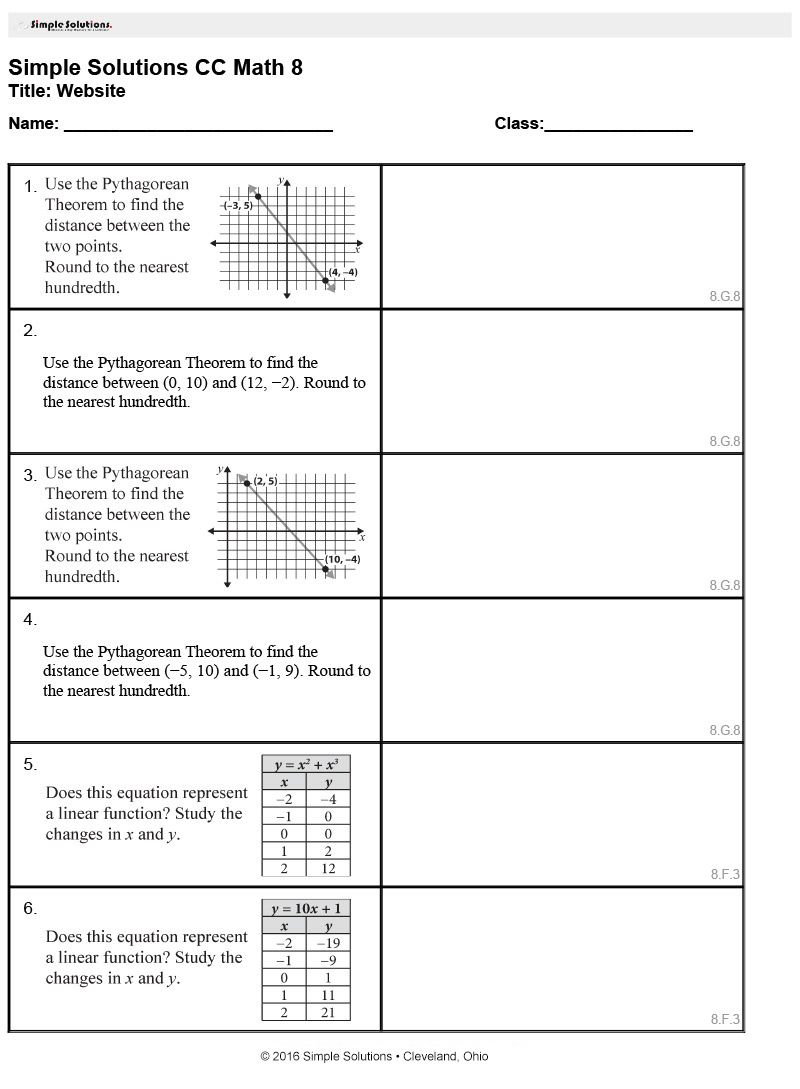 Math exercises for grade 8 Latest