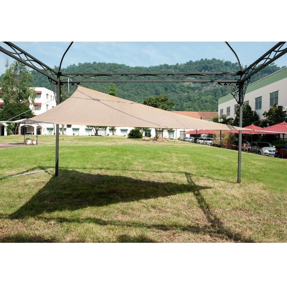 Abba Patio Outdoor Triangle Sun Shade Sail Canopy Shelter With Stainless Steel D-Rings  sc 1 st  Pinterest : triangle canopy outdoor - memphite.com