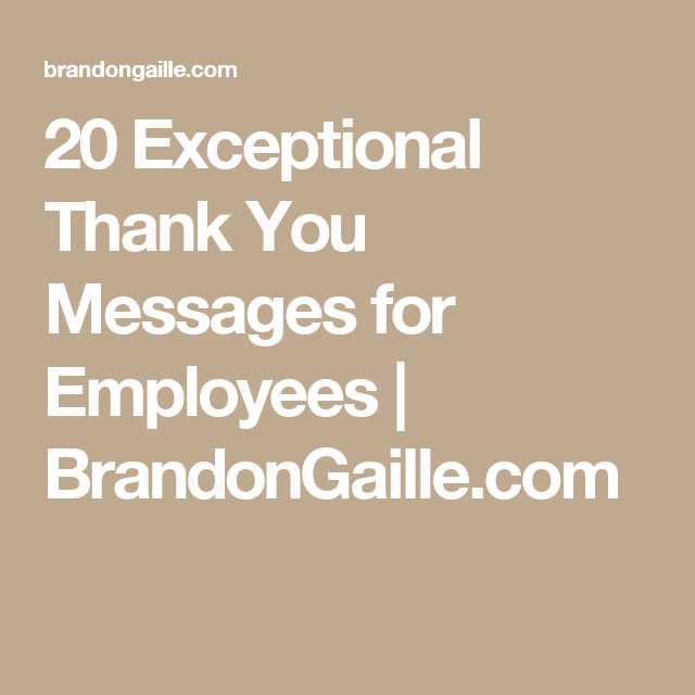 21 exceptional thank you messages for employees