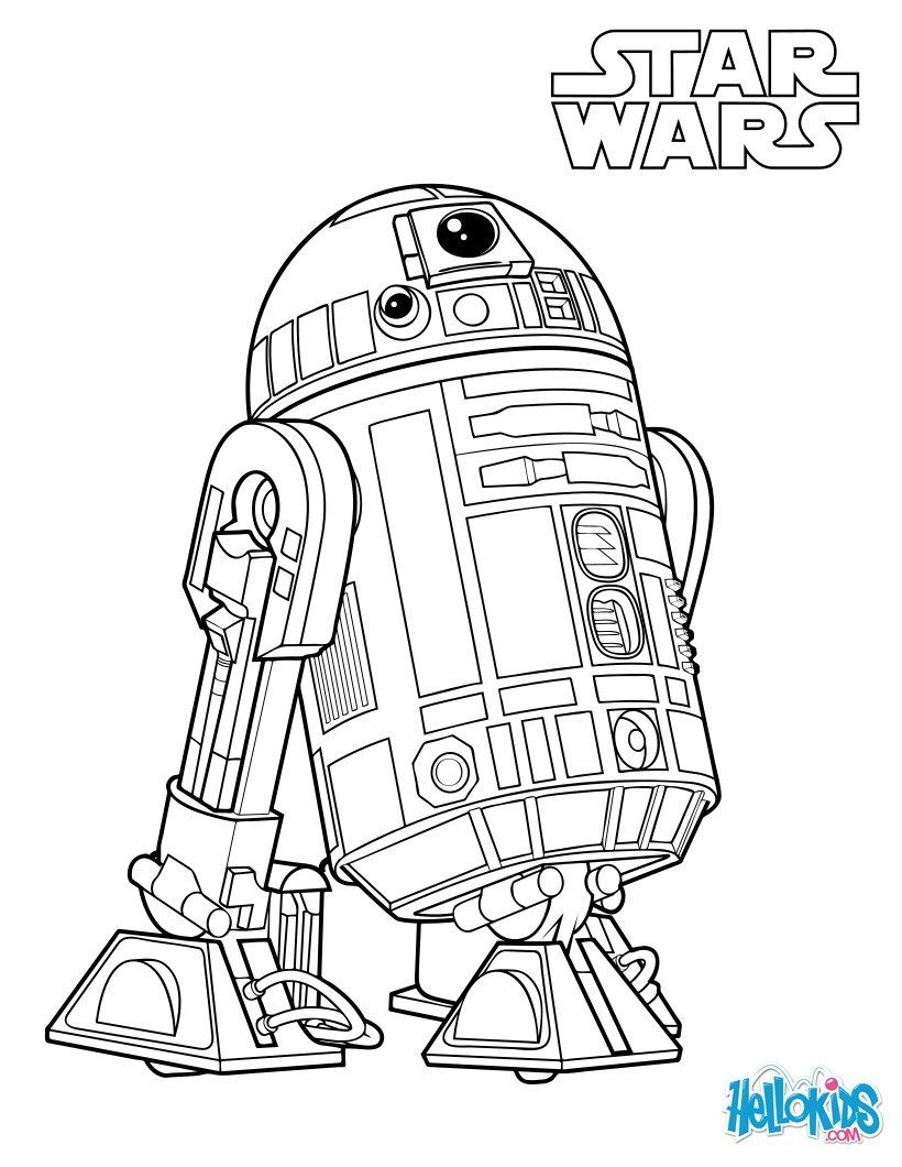 More Star Wars coloring sheets on hellokids