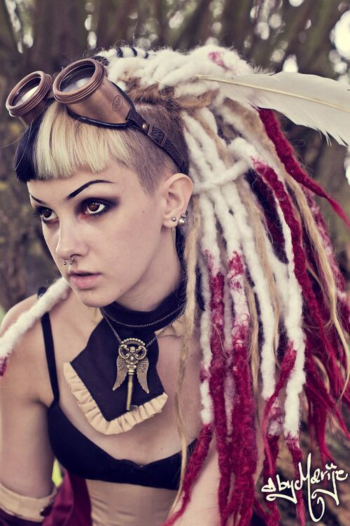 Dreadlock steampunk girl
