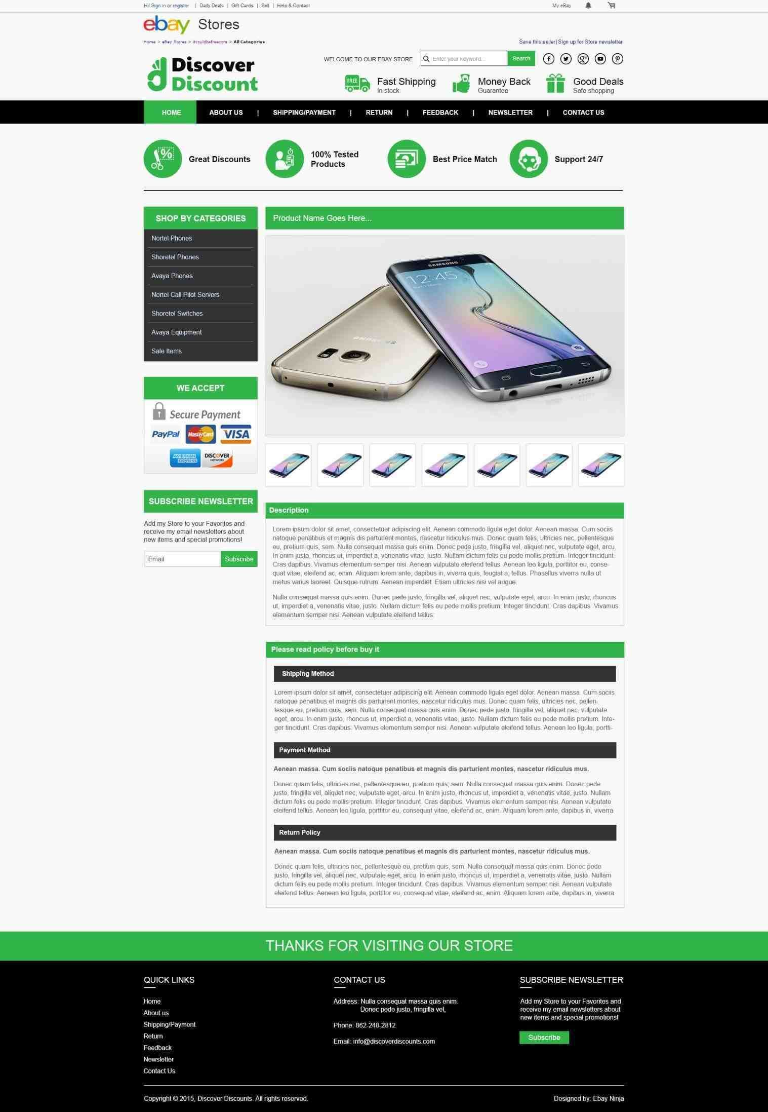 how ebay product description template to create ebay html listing