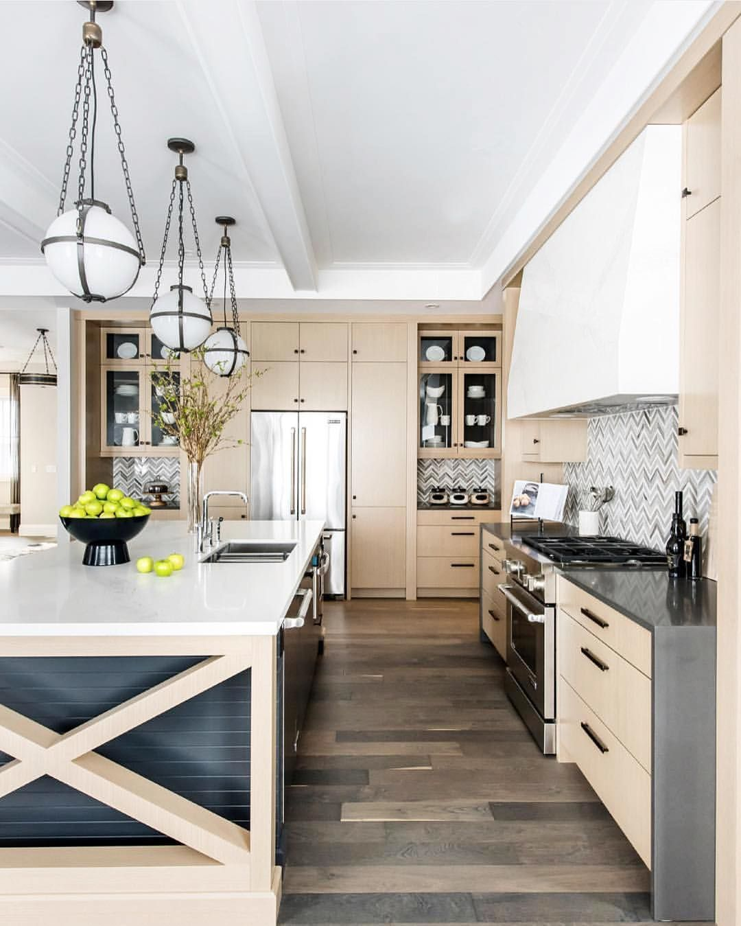 Whitewashed Wood Kitchen With Gray Accents Kitchen Design Trends Top Kitchen Designs Kitchen Design