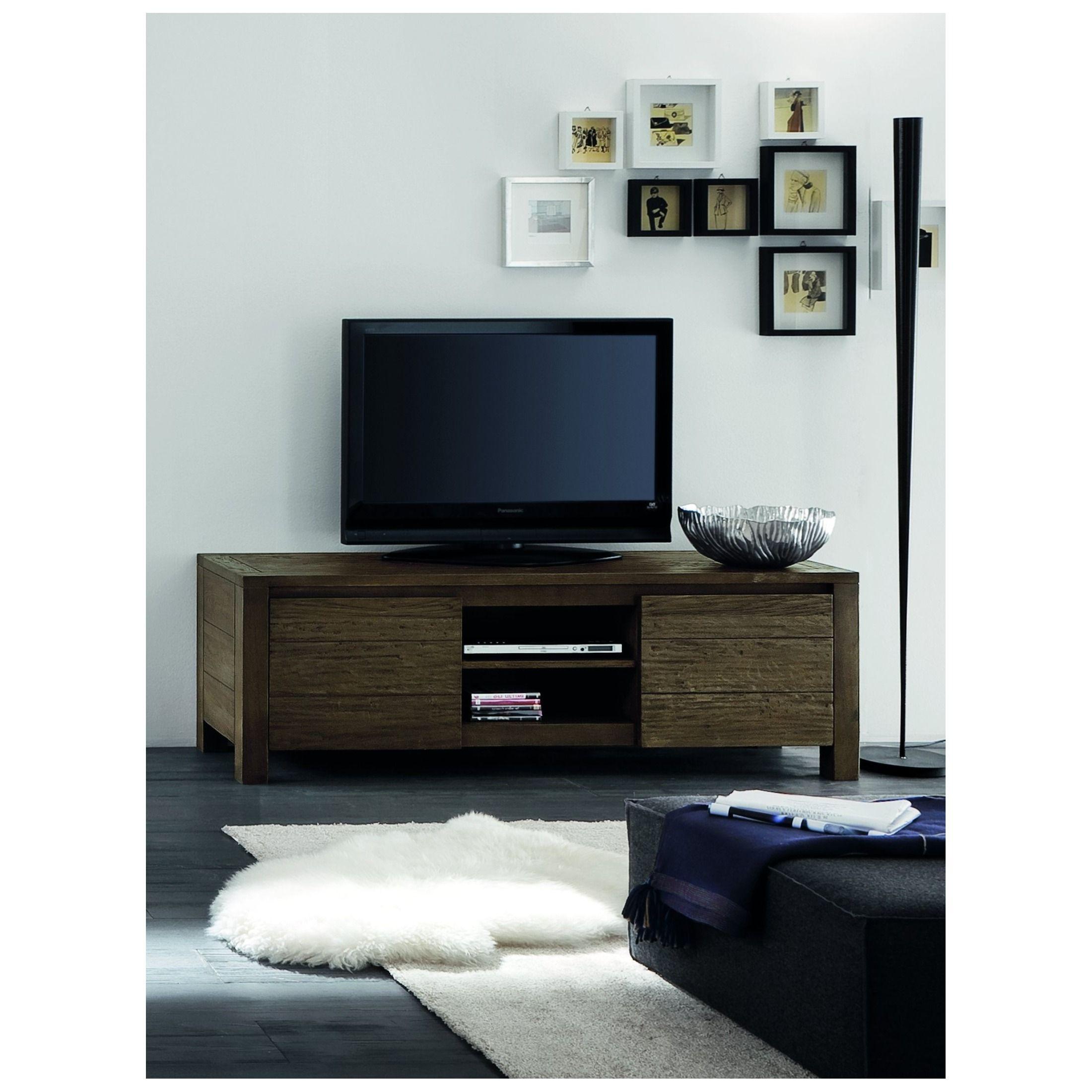 Porta tv in rovere grezzo. #itesoricoloniali #portatv #legno ...