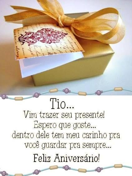 Tio Feliz Aniversário Felicidades Felizaniversario Parabens